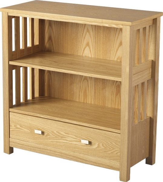 Ashmore 1 Drawer Bookcase (Low)-0