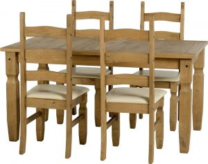 Corona 5ft Dining Set Cream-0