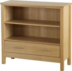 Oakleigh 1 Drawer Bookcase (Low)-0