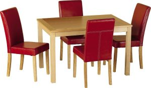 Oakmere Dining Set Red Seats-0